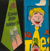 1970 Topps  Empty Dispaly Box Wise Ties With 1 Tie