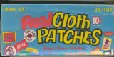 """1971 Fleer Empty Display Box Real Cloth Patches (Stickers)   """""""""""