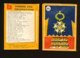 """1972 LEAF ORDERS AND DECORATIONS OF THE WORLD WRAPPER 10 CENTS   """""""""""