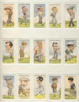 "1989 WA & AC Churchman Reprint Prominent Golfers Set 50 Reprint  """""