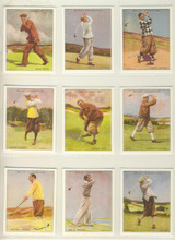 1987 WD & HO Wills Famous Golfers REPRINT Set 25  """"