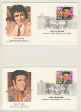 1993 Elvis Presely First Day Covers Lot Of 2  #*