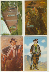 Postcards Billy The Kid Lot Of 4 1 Post Marked 1909