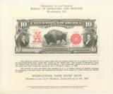 1980 Bureau Of Engraving & Printing 1901 Bison $10 B047  #*