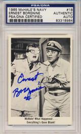 PSA/DNA 1965 McHale Navy #18 Ernest Borgnine Autograph   #*