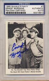PSA/DNA 1965 McHale Navy #7 Ernest Borgnine Autograph   #*