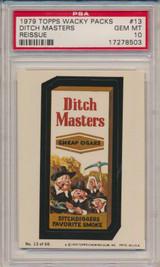 1979 Topps Wacky Packs #13  Ditch Masters  PSA 10 Gem Mint  #*