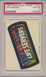 1979 Topps Wacky Packs #142  Lifeservers  PSA 10 Gem Mint  #*