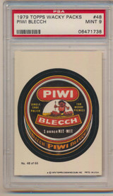 1979 Topps Wacky Packs #48 Piwi Blecch  PSA 9 Mint  #*