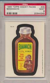 1979 Topps Wacky Packs #35  Bananacin  PSA 9 Mint  #*