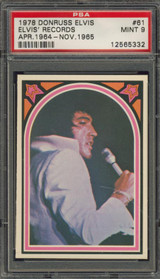 1978 ELVIS #61 ELVIS' RECORDS PSA 9 MINT   #*