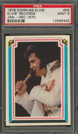 1978 ELVIS #56 ELVIS' RECORDS PSA 9 MINT  """"