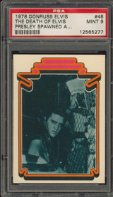 1978 ELVIS #48 THE DEATH OF ELVIS PSA 9 MINT   #*