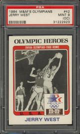 """1984 M & M OLYMPIANS #42 JERRY WEST PSA 9 O/C MINT  """""""""""