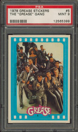 1978 GREASE STICKER #5 THE GREASE GANG PSA 9 MINT   #*