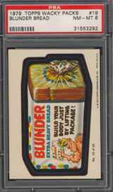 1979 WACKY PACK #19 BLUNDER BREAD  PSA 8 NM-MT   #*