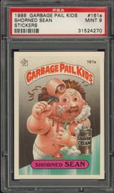 1985 GARBAGE PAIL KIDS #161A SHORNED SEAN  PSA 9  MINT   #*