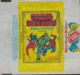 """1980 DONRUSS MARVEL COMICS SUPER HEROES TATTOO WRAPPER   """""""""""