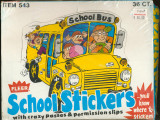 1984 Fleer School Stickers WAX BOX 36 Wax Packs    #*