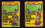 1986 Fleer Grossville High Stickers (2) Different Wrapper  #*