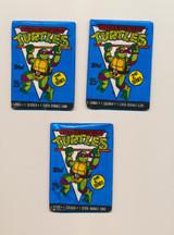 1990 Topps Teenage Mutant Ninja Turtles 2nd Series 25 Cents Wax Pack (3) Wax Pack  #*