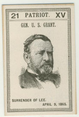 Game Card #21 Patriot Gen. U.S. Grant