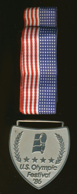 1986 Ice Hockey U.S. Olympic Festival Houston, Texas Silver Medal