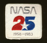 1983 NASA 25 YEARS 1958-1983 CLOTH PATCH  (NEW)