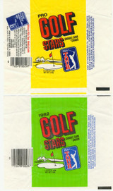 1981 & 1982 GOLF WRAPPERS LOT OF 2    #*
