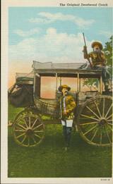 Buffalo Bill Post Card The Original Deadwood Coach