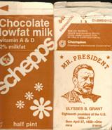 Schepps Chocolate Lowfat Milk Ulyssee  S. Grant MR. President Brown