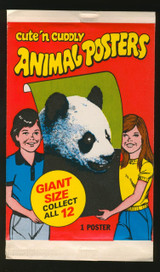 1981 Topps Animal Posters Giant Size Unopened 1 Wax Pack  #*
