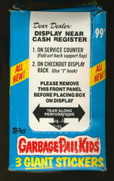 1986 TOPPS GARBAGE PAIL KIDS GIANT STICKERS SERIES 2 (72) WAX PACKS