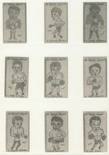 "1992 W.R. Priddy (Antiques) Famous Boxers Set 80  """""