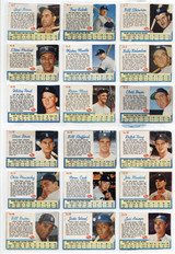 1962 Post Cereal Baseball Complete Set (200 Cards) Overall Low-Mid Grade