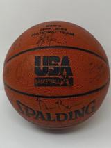 2006-08 Team USA Signed Basketball PSA/DNA Howard Bosh Paul Billups Krzyzewski