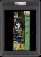 Tiger Woods Signed 1996 Skins Game Schedule PSA/DNA Encapsulated Autograph Golf