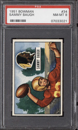 1951 Bowman #34 Sammy Baugh PSA 8 NM-Mint