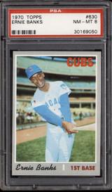 1970 Topps #630 Ernie Banks PSA 8 NM-Mint