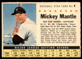 1961 Post Cereal #4 Mickey Mantle Ex-Mint  ID: 252215
