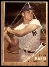 1962 Topps #1 Roger Maris Excellent+  ID: 235575