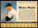 1961 Post Cereal #4 Mickey Mantle Ex-Mint  ID: 234450