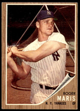 1962 Topps #1 Roger Maris Excellent+  ID: 236289