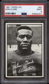 1961 Topps CFL #60 Don Clark PSA 9 Mint