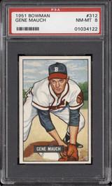 1951 Bowman #312 Gene Mauch PSA 8 NM-Mint RC Rookie