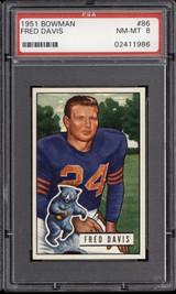 1951 Bowman #86 Fred Davis PSA 8 NM-Mint