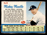 1962 Post Cereal #5 Mickey Mantle VG-EX  ID: 297899