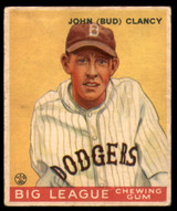 1933 Goudey #32 Bud Clancy Excellent RC Rookie
