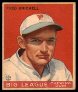 1933 Goudey #38 Fred Brickell Excellent+ RC Rookie