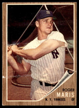 1962 Topps #1 Roger Maris Good  ID: 232629